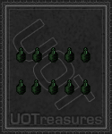 An ultima online Hunter Green Compassion Dye - 10 Bottles