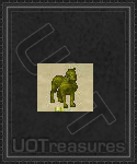 An ultima online Interactive Dire Wolf Statue